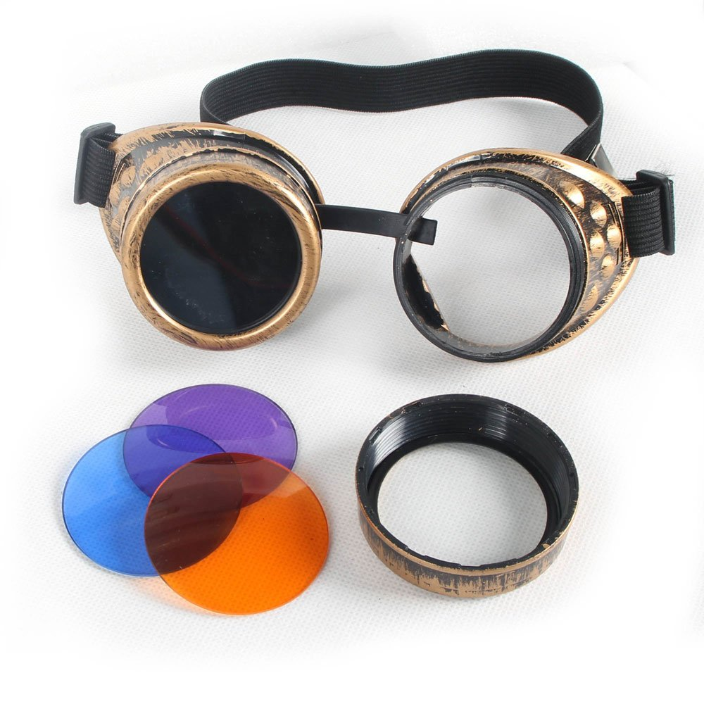 100% New ABS Costume Props Cosplay Equipment Vintage Steampunk Goggles Glasses