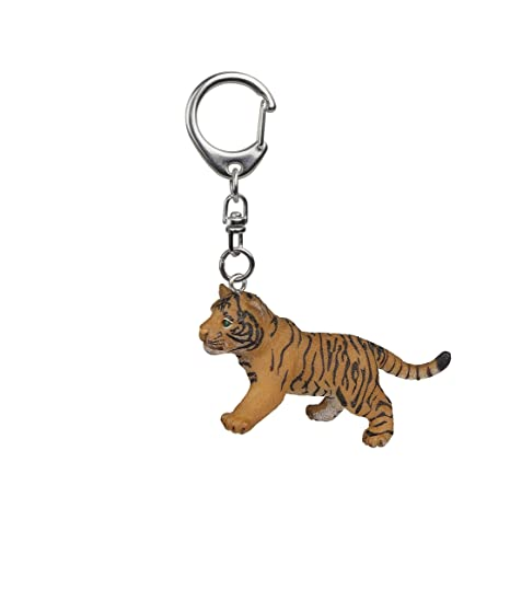 Papo Tiger Cub Key Ring, Multicolor