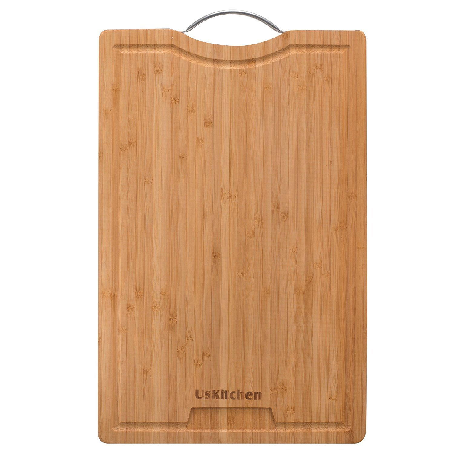 Bamboo Cutting Boards For Kitchen By Poppa Ravi Anti Bacterial Organic Premium Quality and Eco-friendly Bamboo Chopping Board Extra Large Bamboo Cutting Board With Juice Grooves