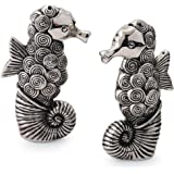 Mud Pie 108450 Seahorse Salt and Pepper Set, Silver