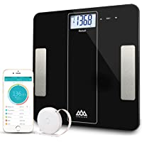 SENSSUN Smart Scale Body Fat Analyzer 2018 - Bluetooth Body Fat BMI Scale Digital Bathroom Wireless Weight Scale with iOS and Android APP for BMI,BMR,Muscle Mass,Bone Mass,Water,Fat,Weight,396 lbs