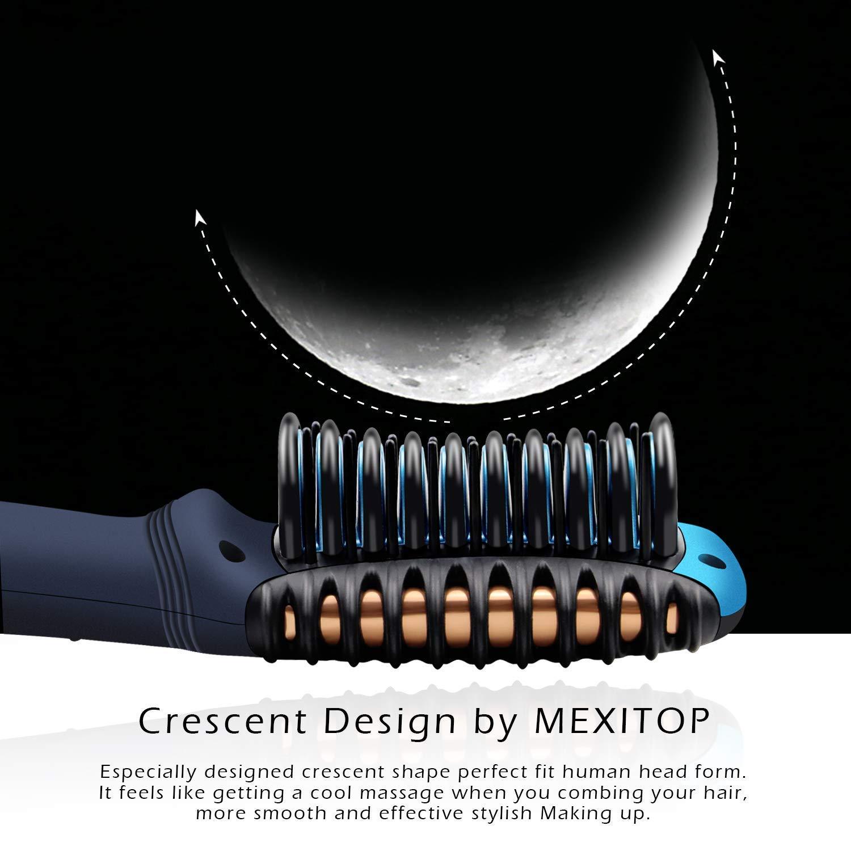 Rizador y plancha para el cabello - Mexitop Mini 2 en 1 herramienta para salón de alisado/rizado, liviano (1 manzana), doble voltaje, ...