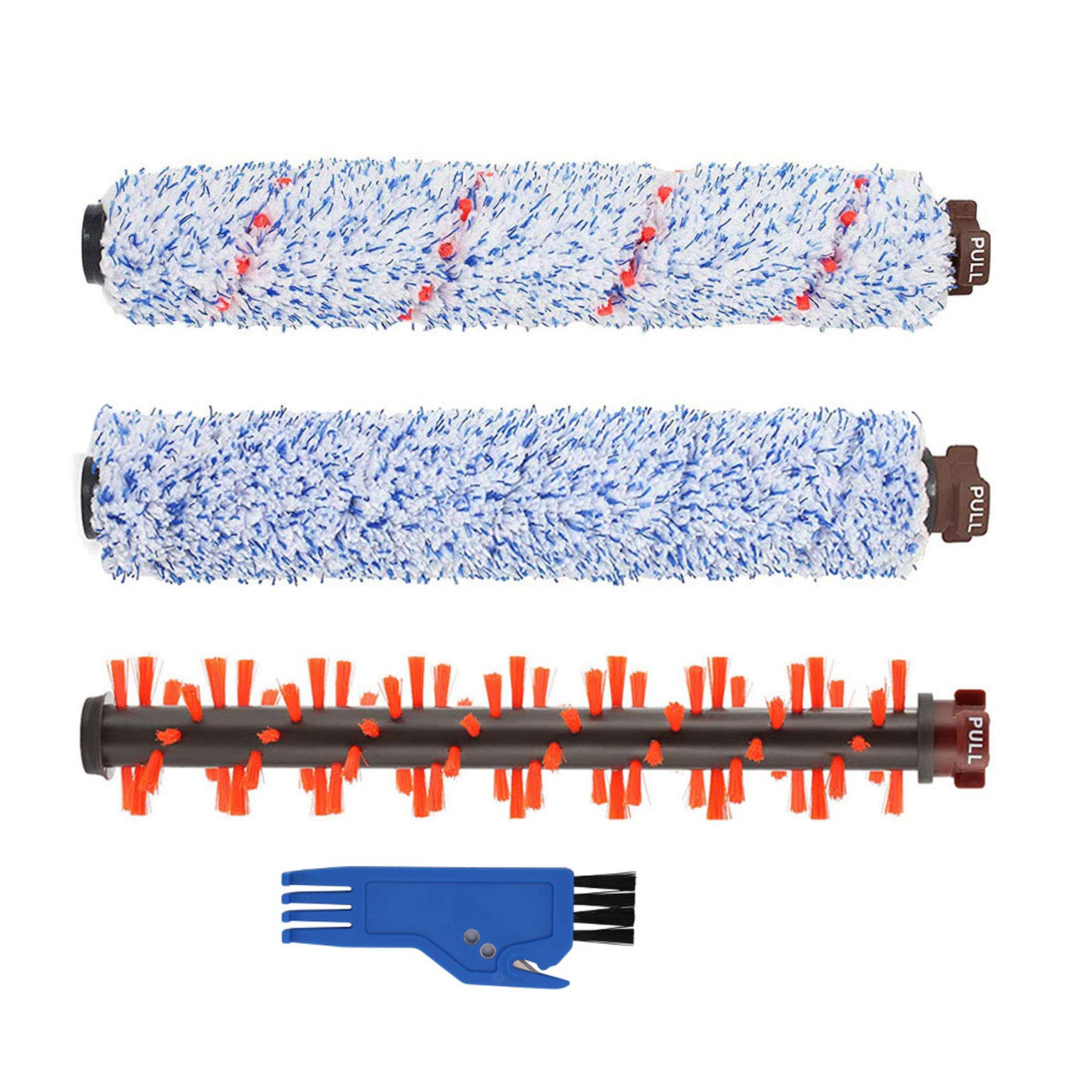 LesinaVac 1 Multi-Surface Brush Roll 1868 + 1 Area Rug Brush Roll 1934 + 1 Wood Floor Brush Roll 1926 Replacement Compatible with Bissell CrossWave Cleaner