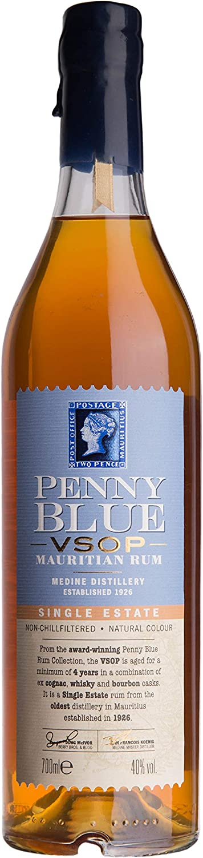 Penny Blue Penny Blue Vsop Single Estate Mauritian Rum 40% Vol. 0,7L - 700 ml