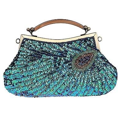 Amazon.com: Bolso de boda para mujer, con diseño de embrague ...