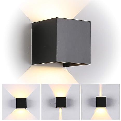 7W Led Applique murale chambre Moderne Interieur/Exterieur, Up and Down  Design Réglable Lampe, Aluminium luminaires applique murale led Anti-Eau  Blanc ...