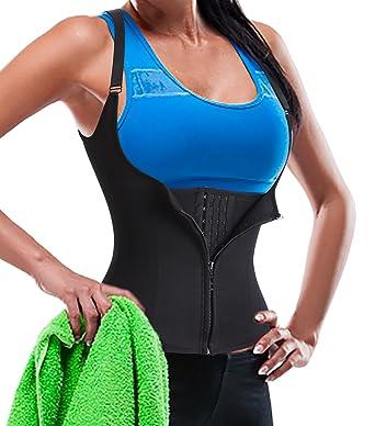 5ab5c7e16f8 Womens Adjustable Straps Body Shaper with 1 Zip   3 Hooks Underbust Steel  Boned Waist Training