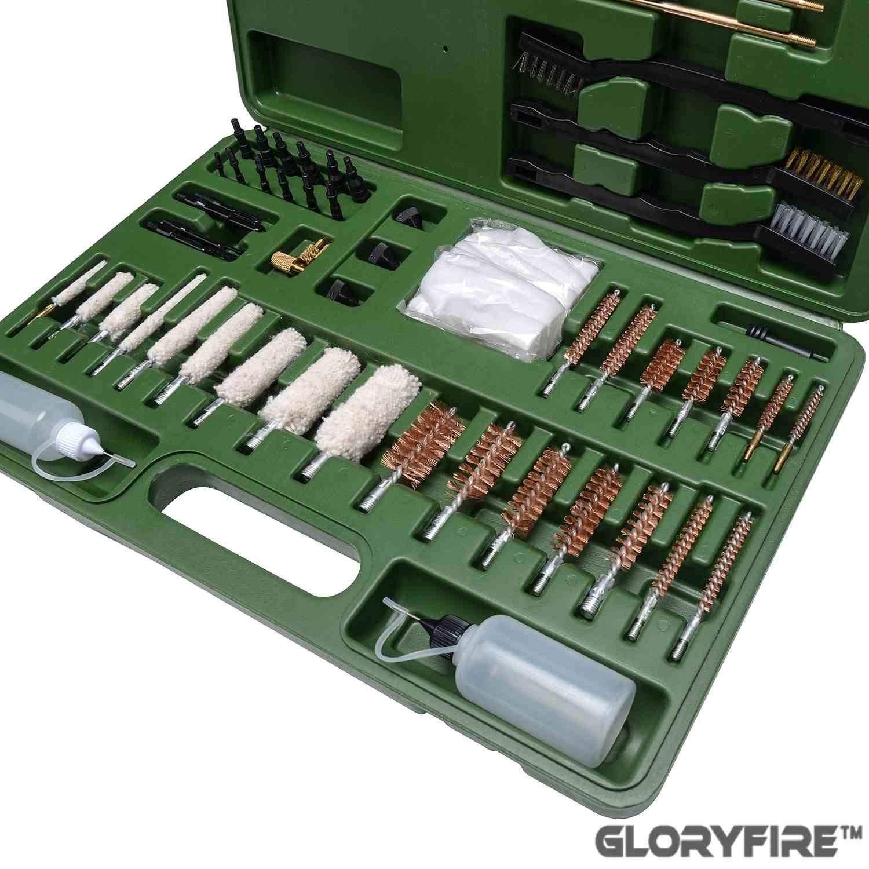 GLORYFIRE Universal Gun Cleaning Kit Hunting Rifle Handgun Shot Gun Cleaning Kit for All Guns with Case Travel Size Portable Metal Brushes by GLORYFIRE (Image #6)