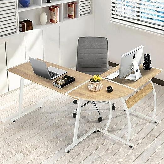 BAKAJI. Escritorio para PC moderno de diseño angular. Para oficina ...