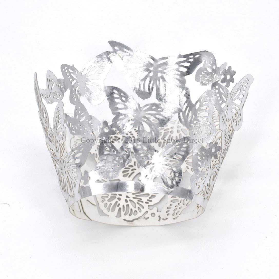 Little Snow Direct Butterfly 20pcs Laser Cut Cupcake Wrapper Wraps Cases Wedding Birthday Party Cream