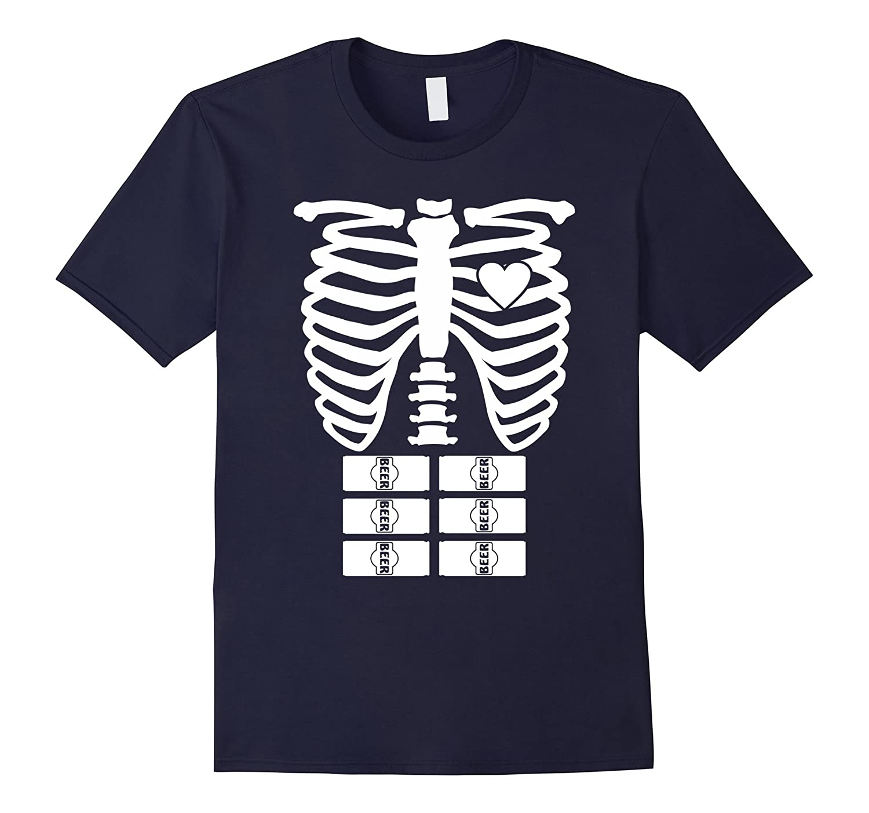 X-Ray Skeleton Beer Shirt - Halloween Rib Cage Costume Gift-FL