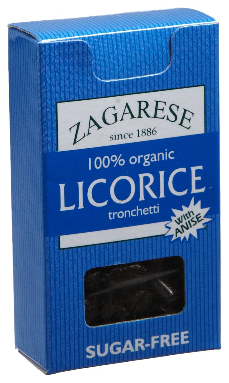 Zagarese 100% Organic Licorice with Anise, 0.88-Ounce Flip Top Boxes (Pack of 6) by Zagarese