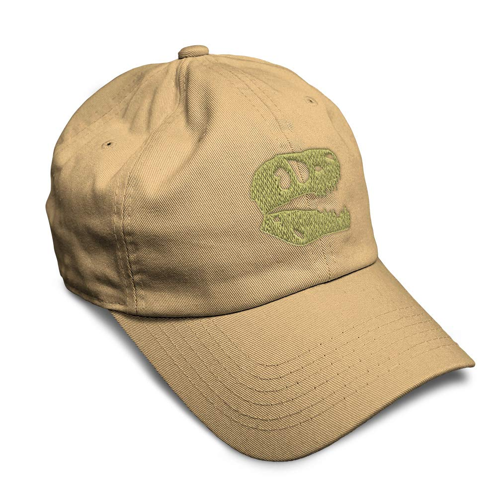 Custom Soft Baseball Cap Dinosaur Skull A Embroidery Dad Hats for Men /& Women