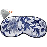 MSSilk Extra Size Sleep Eye Mask- Smoothing Mulberry Silk- Adjustable Elastic Strap- Lightweight- with A Bonus Pair of Earplug in a Carry Pouch