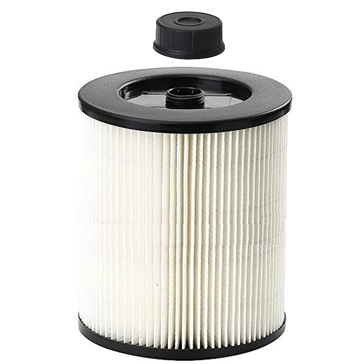 First4Spares Qualtex 9-17816 Filter with Cap Fits All Craftsman Vacuums 5 Gallons & Above