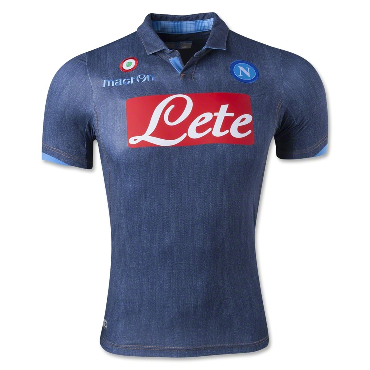 Macron 2014-2015 Napoli Authentic Away Match Football Soccer T-Shirt Trikot