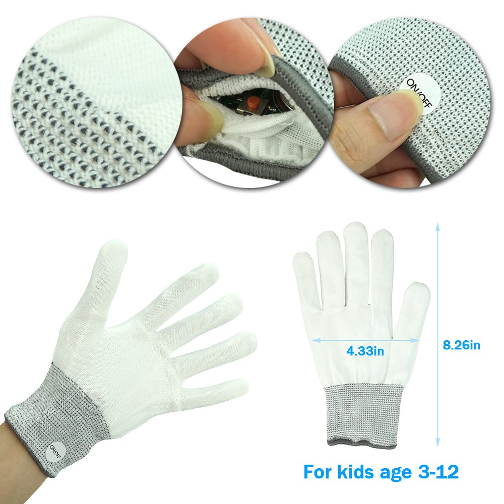 Toys for 3-12 Year Old Boys, TOP Gift LED Flashing Gloves Novelty ...