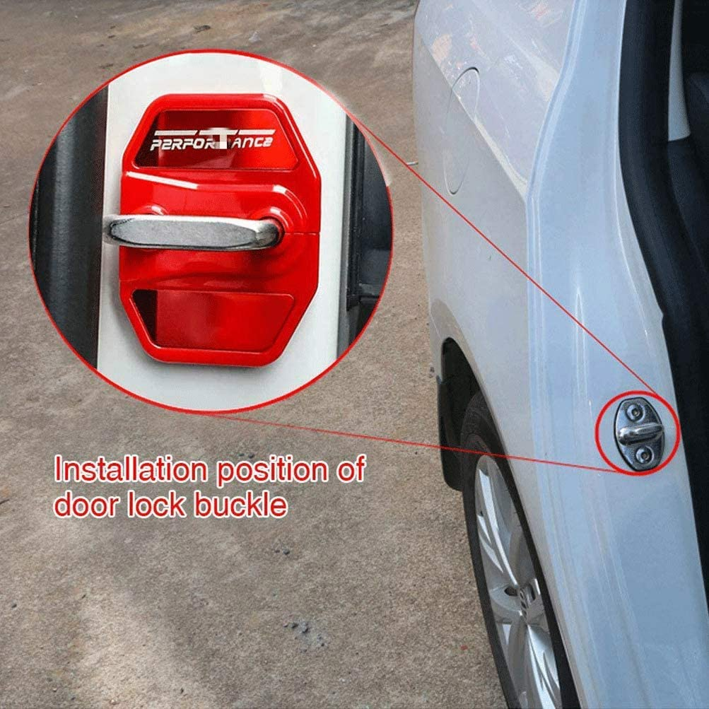 4Pcs Coche Acero Inoxidable Etiqueta Cubierta Cerradura Puerta /Óxido Prueba Agua Car Protect para BMW 1 series sedan 2 series Travel 5 series 6GT 7 series X1 X2 X3 X4 X5 X6 Door Lock Cover Sticker