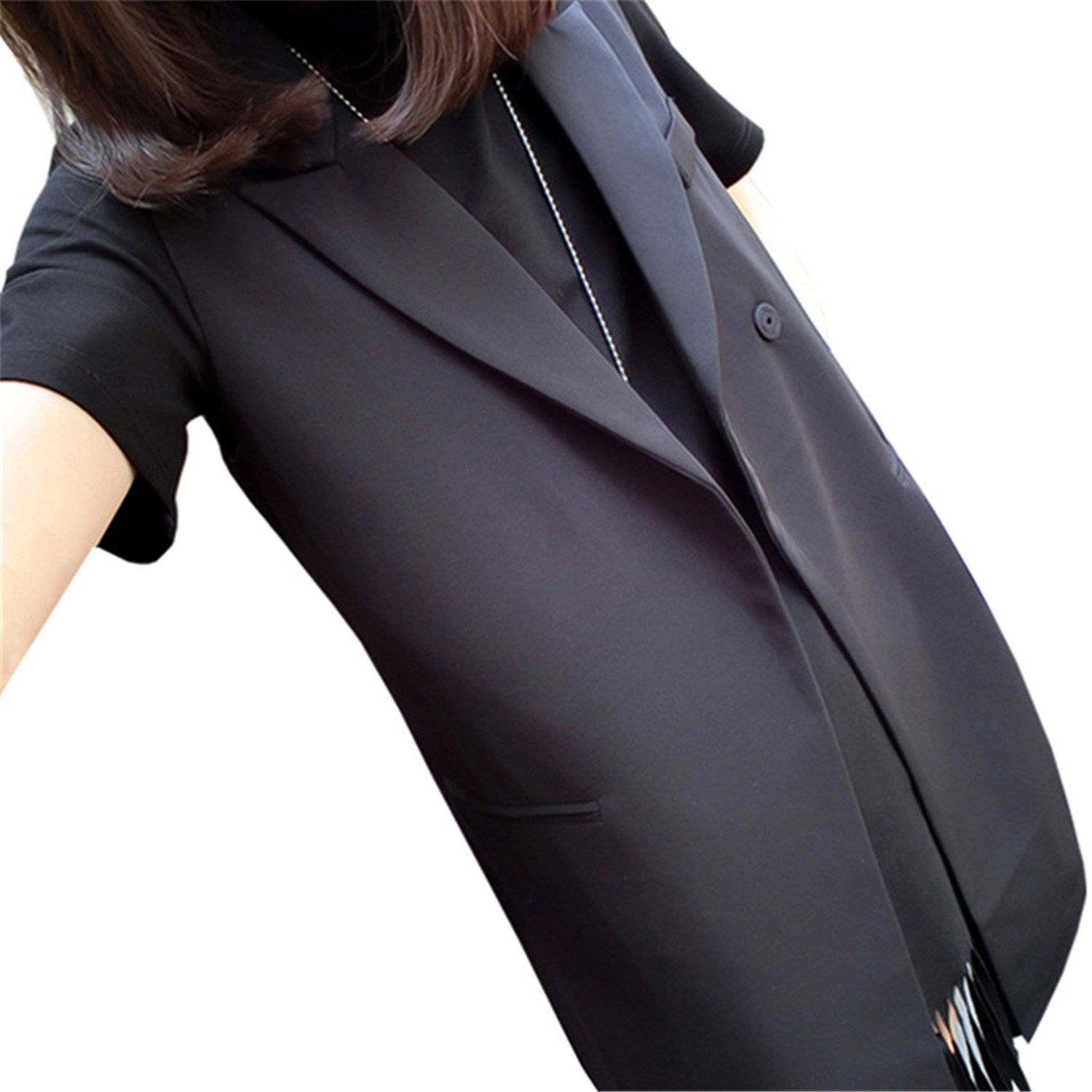Giles Abbot Classic Style Long Suit Vest Women New Spring Autumn New Casual Black Waistcoat