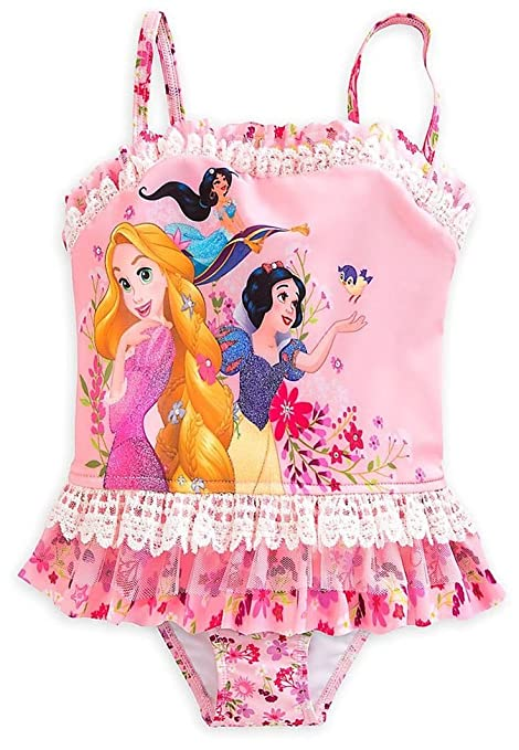f70ead13d1 Amazon.com: Deluxe 2 pc Tankini Princess Swimsuit Large 9 - 10 Rapunzel  Snow White Jasmine: Everything Else