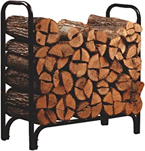 Panacea 15203 Deluxe Outdoor Log Rack, Black
