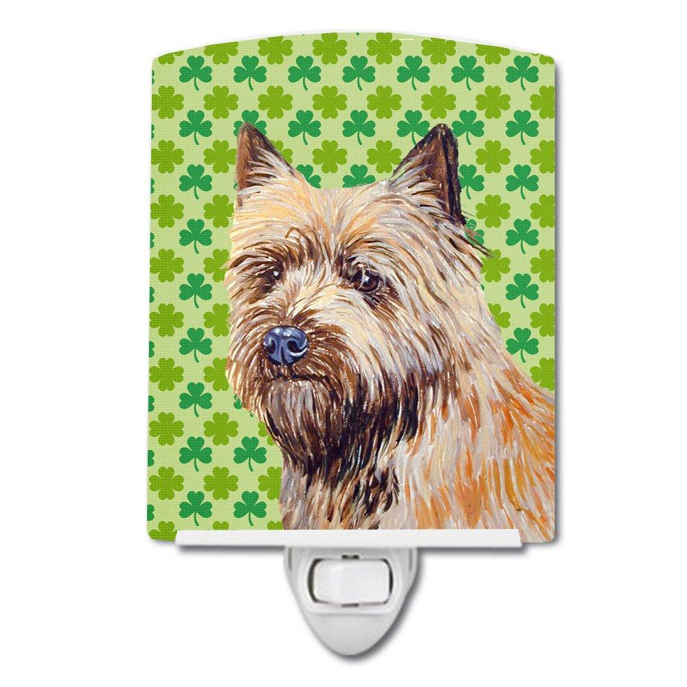Patricks Day Night Light 6 x 4 Multicolor Carolines Treasures Cairn Terrier St
