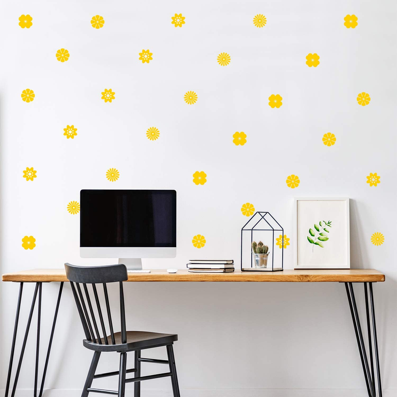 Set of 32 Vinyl Wall Art Decal - Variety of Flower Patterns - 3
