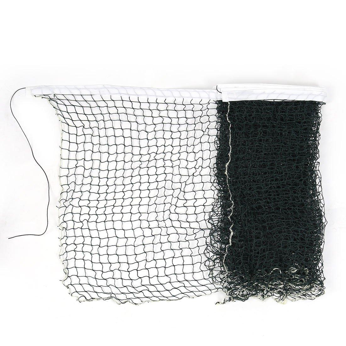 6M Length White Trim Braided Nylon Green Mesh Badminton Training Net Sourcingmap a11101000ux0061