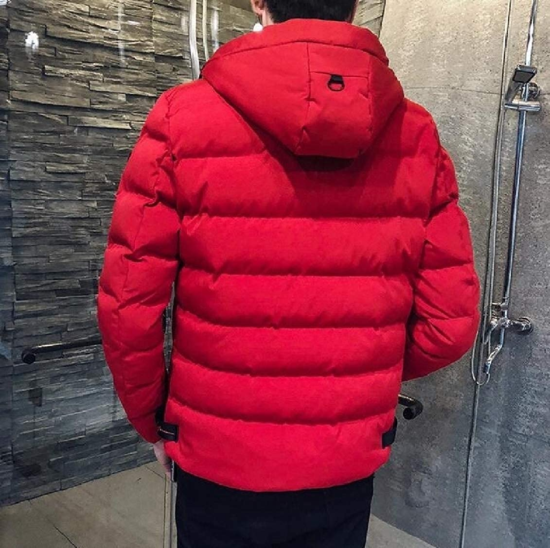 Hokny TD Men Casual Winter Thicken Warm Hooded Puffer Down Jacket Outwears