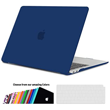 iNeseon Funda MacBook Air 13 2018, Carcasa Delgado Case Duro y Cubierta del Teclado Transparente EU Layout para MacBook Air 13.3 Pulgadas con Touch ID ...