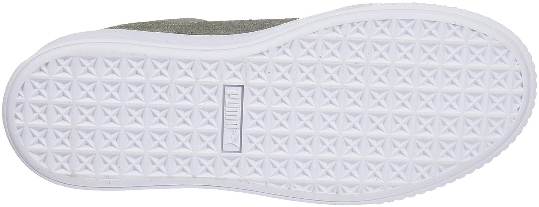 Puma Damen Suede Platform Platform Suede Pebble WN's Sneaker Grau (Rock Ridge-puma Weiß) 61d818