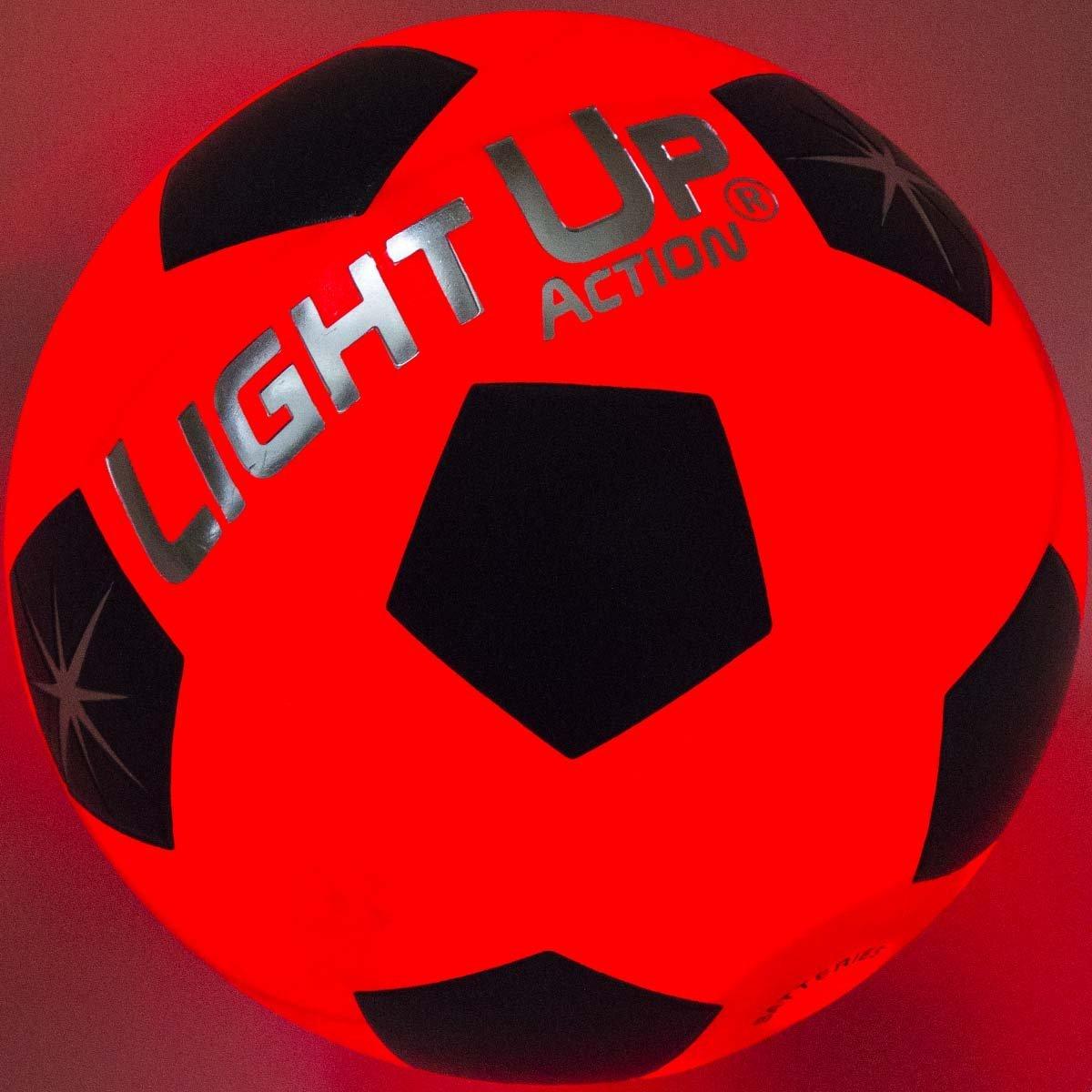 Light Up Action Light Up Soccer Ball - LED LIT - Traditional Soccer Ball, Size 5 by Light Up Action