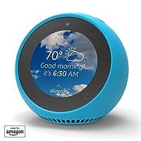 Mission Silikon-Hülle für Amazon Echo Spot, Schutzhülle aus strapazierfähigem und weichem Silikonmaterial - Bahama Blue