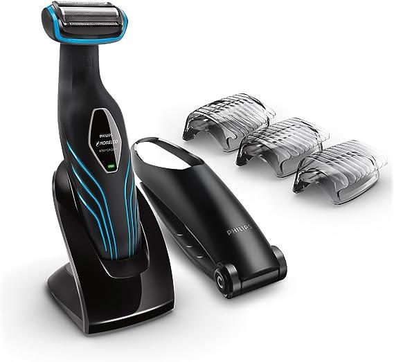 Philips Norelco Bodygroom 3100 BG2034/42 afeitadora corporal Negro, Azul - Afeitadoras corporales (AC/Batería, Níquel-metal hidruro (NiMH), 50 min, 8 h): Amazon.es: Belleza