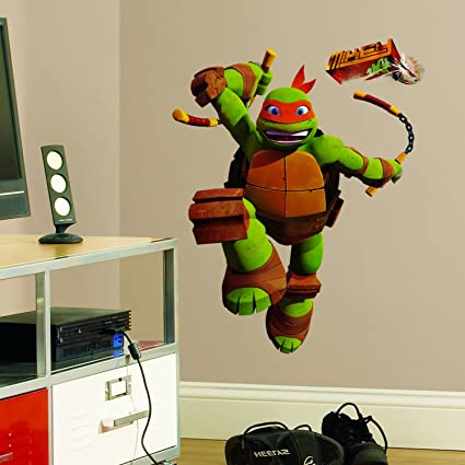 Teenage mutant ninja turtles michelangelo wall decal