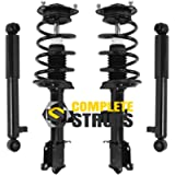 Front Quick Complete Struts & Rear Bare Shock Absorbers Fits 2011-2013 Ka Sorento (Set of 4)