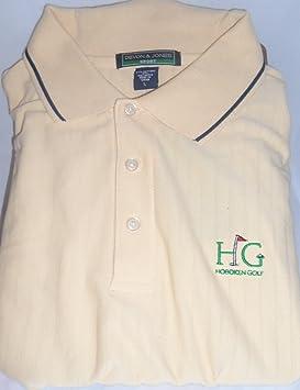 Devon Jones à manches courtes W/HG Logo Dri-fast Beurre de golf pour homme/N AiIle52tH