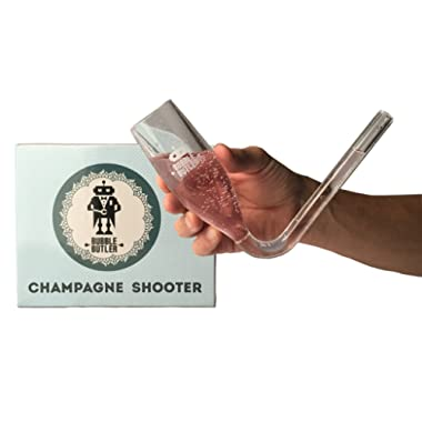 Bubble Butler - Acrylic Plastic Chambongs - Champagne Shooter - Champagne Accessories, Champagne Bong, Prosecco Glasses, Bridesmaids Gifts, Bachelorette Party Favors, Outdoor Party, 6 oz. (2 Pack)