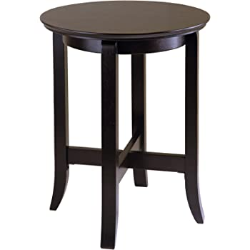 Amazon Com Winsome Wood Round Table With Drawer And Shelf