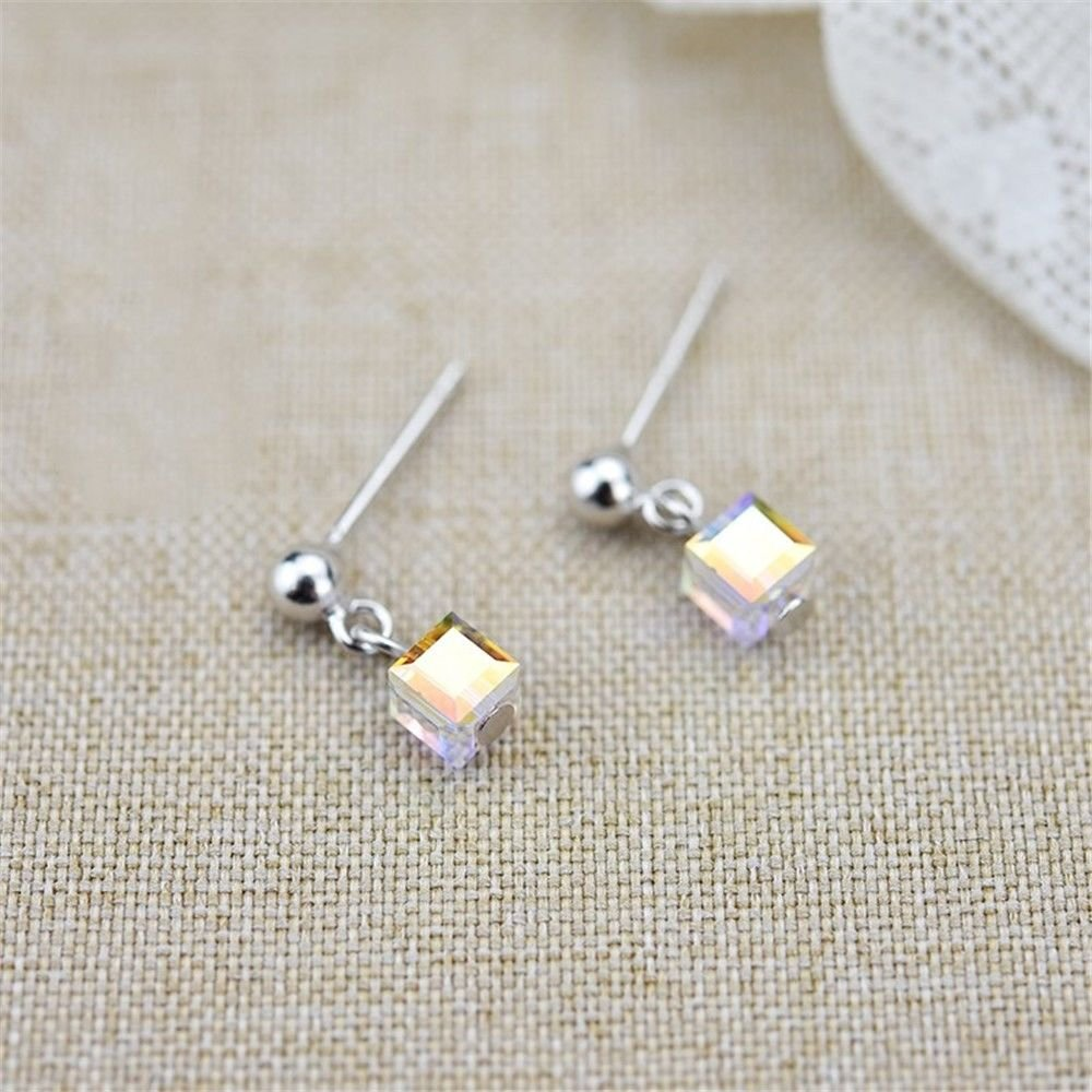 Ling Studs Earrings Hypoallergenic Cartilage Ear Piercing Simple Fashion Earrings Ear Jewelry Crystal Earrings Simple Short 925 Sterling Silver by Ling (Image #4)