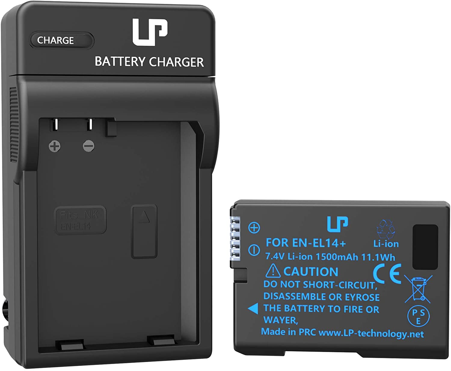 EN-EL14 EN EL14a Battery Charger Pack, LP Charger Compatible with Nikon D3500, D5600, D3300, D5100, D5500, D3100, D3200, D5200, D5300, D3400, DF, Coolpix P7000, P7100, P7700, P7800 Cameras & More : Camera & Photo