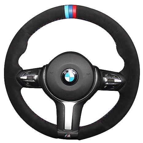 Piel auténtica Funda para volante para BMW 328d 535d/330E/M2 M3 M4 M5