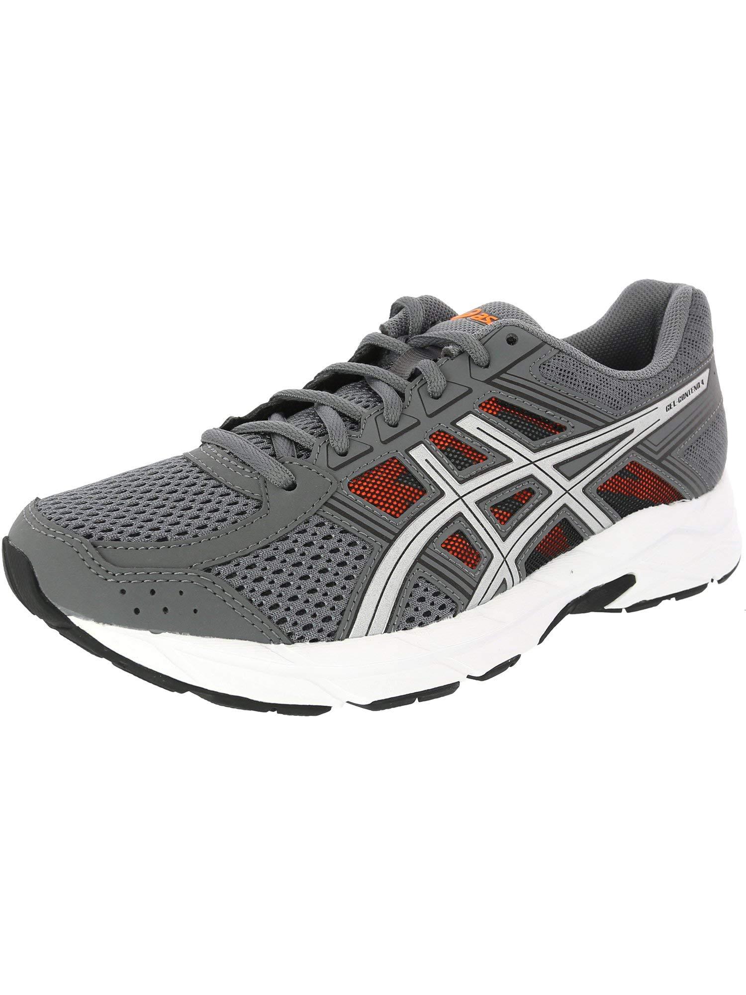 ASICS Men's Gel-Contend 4 Running Shoe Carbon/Silver/Orange, 8 D(M) US