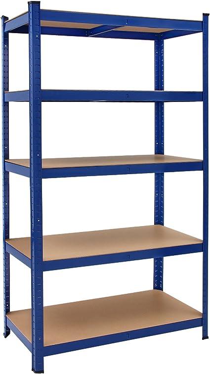 Deuba Estantería de metal Azul 5 niveles Almacenamiento - Bricolaje 180x90x40 cm Carga máxima de 875kg taller garaje: Amazon.es: Bricolaje y herramientas