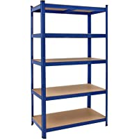 Deuba Estantería Metálica para cargas pesadas Azul 180x90x60cm 875kg Repisa de almacenaje con 5 estantes