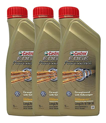 Castrol Edge Professional 5w-30 Longlife III Aceite para motor, Paquete de 3 x 1 litro