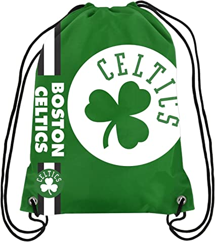Amazon Com Boston Celtics Nba Big Logo Drawstring Backpack