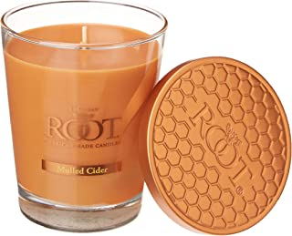 product image for Root Candles Honeycomb Veriglass Scented Beeswax Blend Candle, Large, Mulled Cider