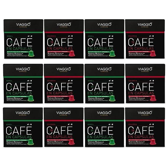 VIAGGIO ESPRESSO - 120 Cápsulas de Café Compatibles con Máquinas Nespresso - ORIGENES