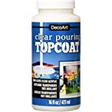 DecoArt Clear Pouring TopCoat DS134 16 fl oz/ 473 ml